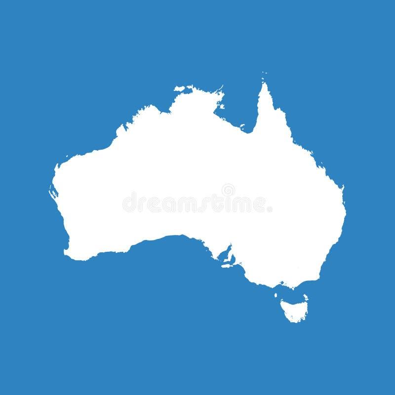 ηπειρωτικός χάρτης της Αυστραλίας πολιτικός Επίπεδο διάνυσμα διανυσματική απεικόνιση