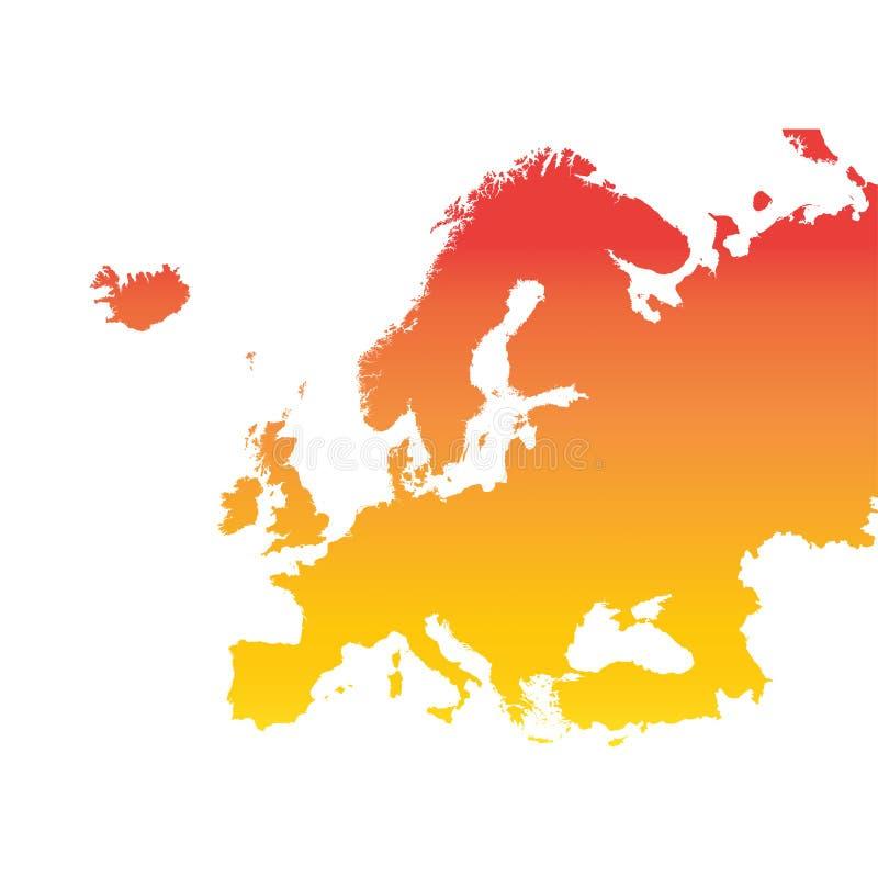 ηπειρωτικός χάρτης της Ευρώπης πολιτικός απεικόνιση αποθεμάτων
