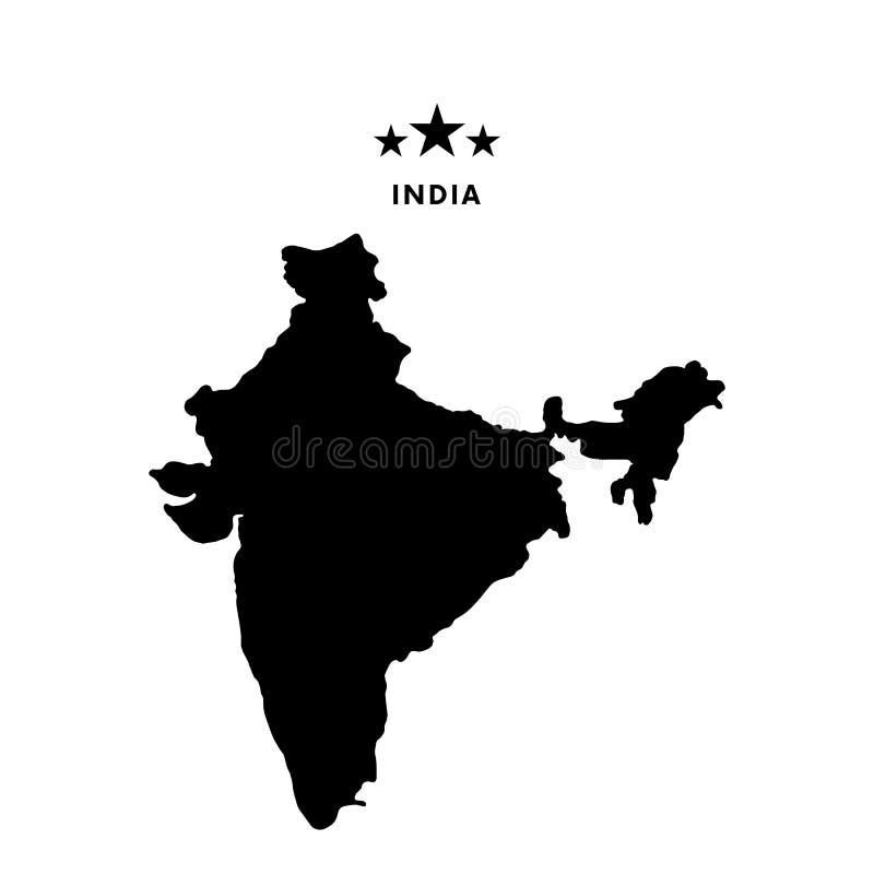 ηπειρωτικός χάρτης της Ινδίας πολιτικός επίσης corel σύρετε το διάνυσμα απεικόνισης διανυσματική απεικόνιση