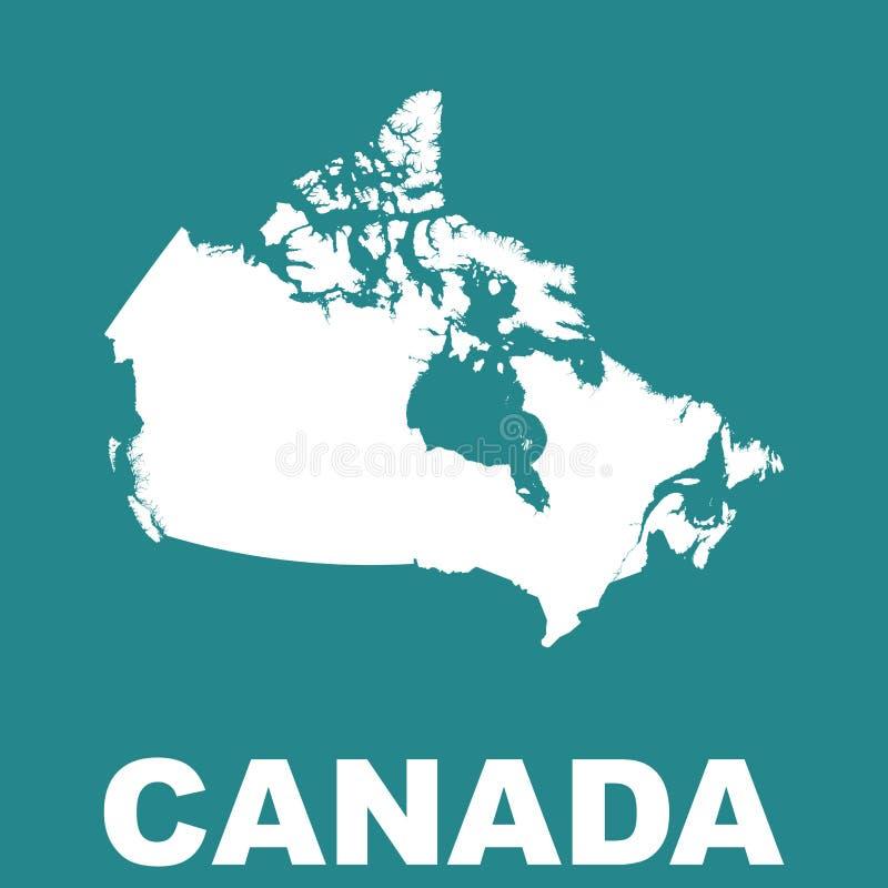 ηπειρωτικός χάρτης του Καναδά πολιτικός Επίπεδο διάνυσμα διανυσματική απεικόνιση
