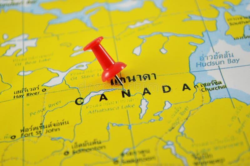 ηπειρωτικός χάρτης του Καναδά πολιτικός στοκ εικόνες