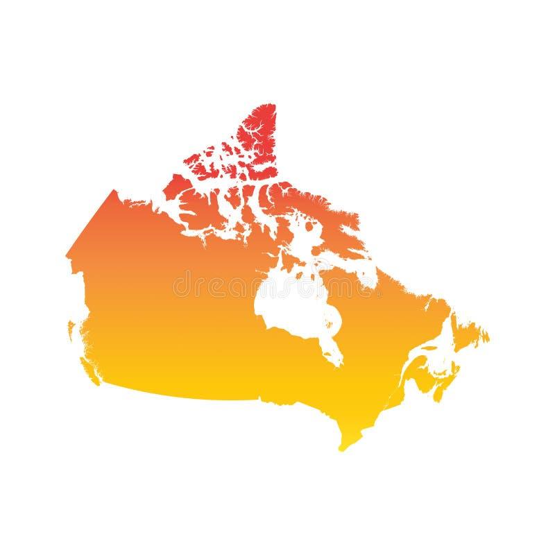 ηπειρωτικός χάρτης του Καναδά πολιτικός διανυσματική απεικόνιση