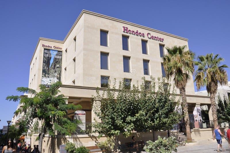 Ηράκλειο, στις 5 Σεπτεμβρίου: Κτήριο εμπορικών κέντρων πόλεων ή κέντρου Hondos από Ηράκλειο στο νησί της Κρήτης της Ελλάδας στοκ φωτογραφία