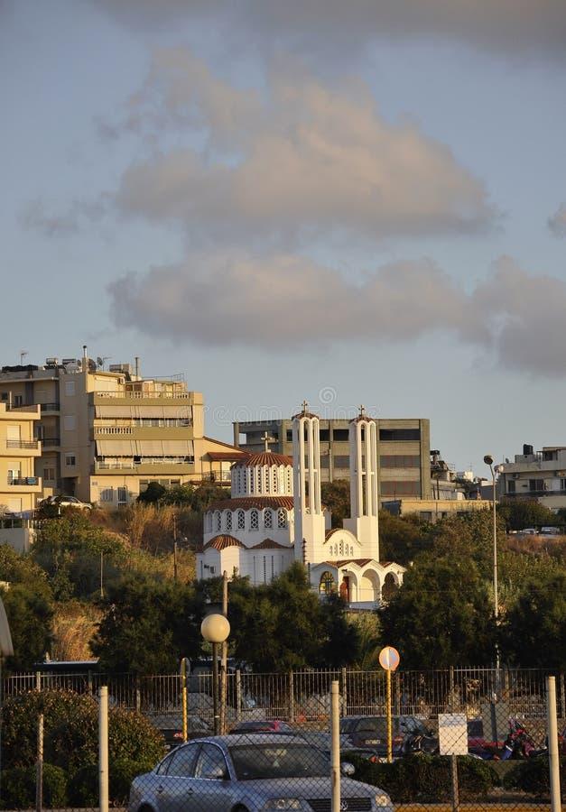 Ηράκλειο, στις 5 Σεπτεμβρίου: Πανόραμα στο κέντρο της πόλης Ηρακλείου στο νησί της Κρήτης της Ελλάδας στοκ φωτογραφία