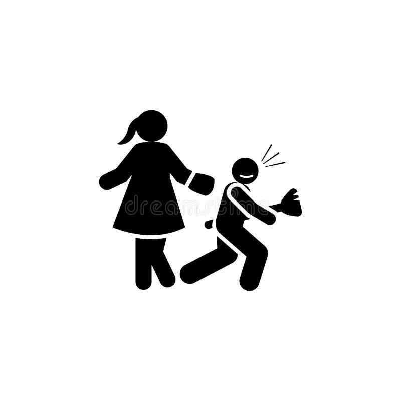 Ηρεμία, τρέχοντας εικονίδιο Στοιχείο του θετικού parenting εικονιδίου r r διανυσματική απεικόνιση