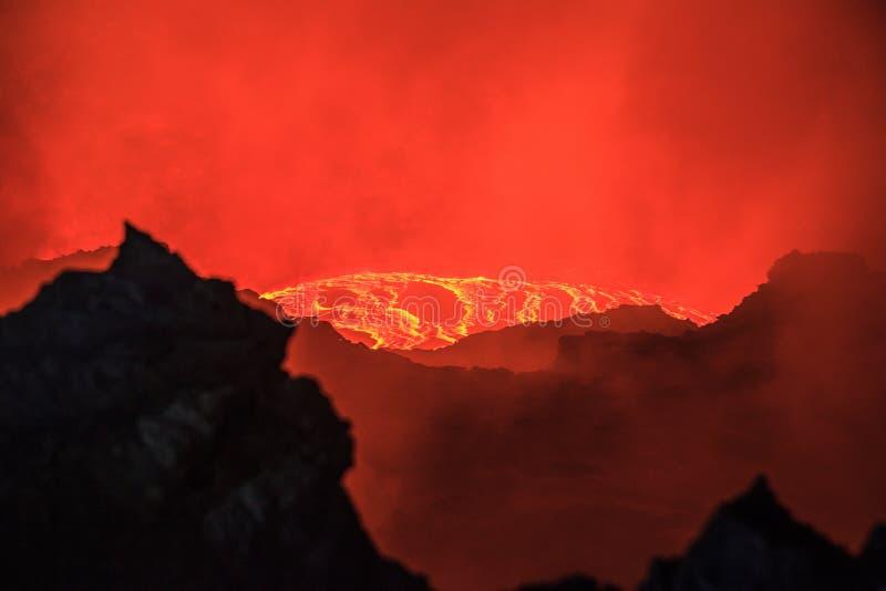 Ηφαίστειο αγγλικής μπύρας Erta στοκ εικόνα με δικαίωμα ελεύθερης χρήσης