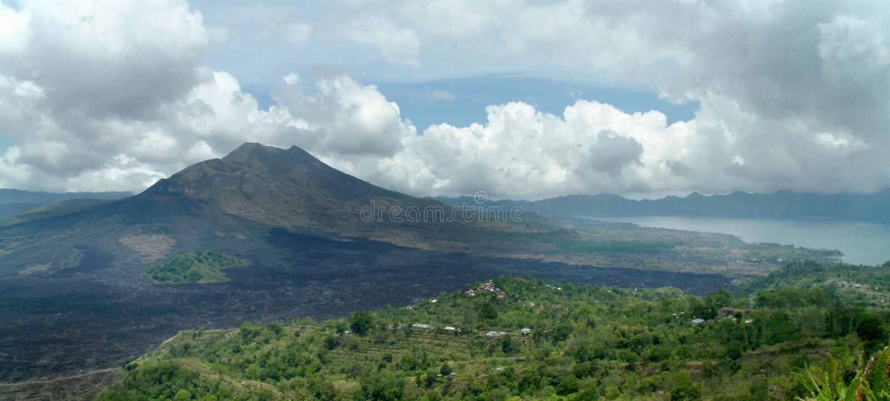 ηφαίστειο νησιών του Μπαλ στοκ φωτογραφία με δικαίωμα ελεύθερης χρήσης