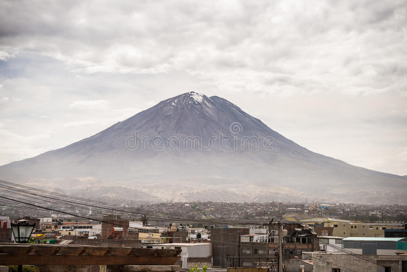 Ηφαίστειο EL Misti σε Arequipa, Περού στοκ εικόνες
