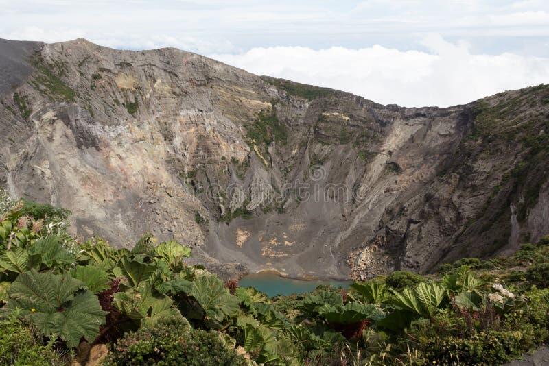 Ηφαίστειο Irazú, Κόστα Ρίκα στοκ φωτογραφίες