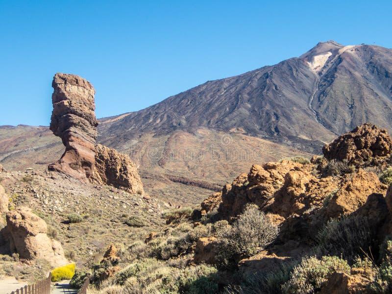 Ηφαίστειο Los Roques, και EL Teide Tenerife, Κανάρια νησιά, Ισπανία στοκ εικόνες με δικαίωμα ελεύθερης χρήσης