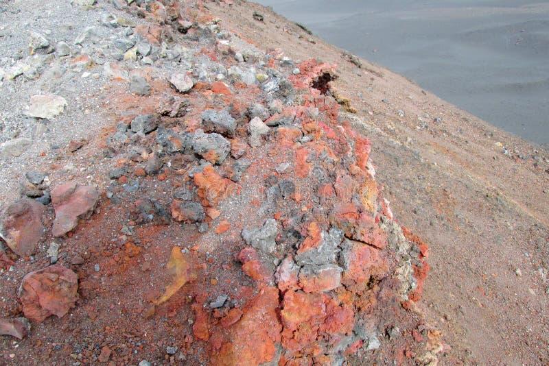 Ηφαιστειακά παγωμένα λάβα και θείο στοκ φωτογραφίες με δικαίωμα ελεύθερης χρήσης