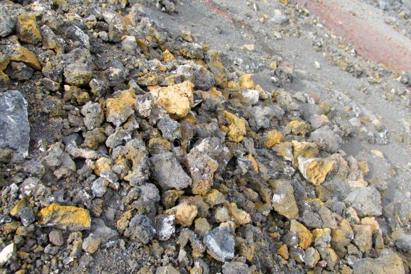 Ηφαιστειακοί βράχοι θείου στοκ εικόνα με δικαίωμα ελεύθερης χρήσης