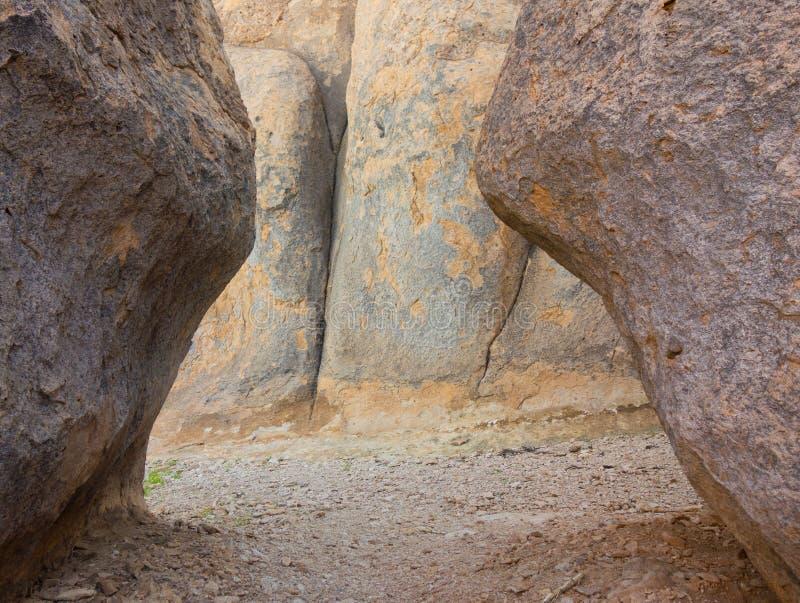 Ηφαιστειακοί σχηματισμοί βράχου στην έρημο στοκ εικόνες με δικαίωμα ελεύθερης χρήσης