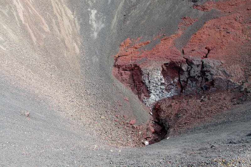 Ηφαιστειακός παγωμένος κρατήρας λάβας στοκ εικόνα