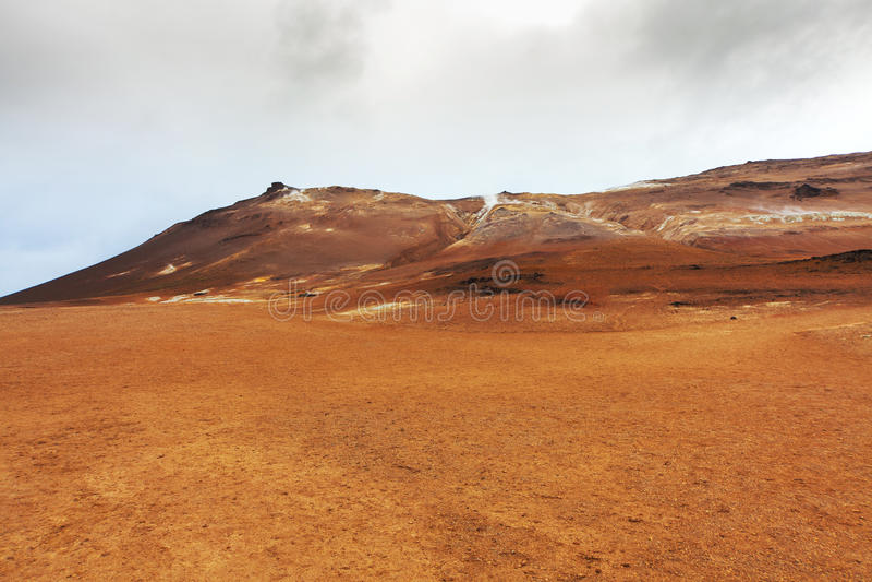 Ηφαιστειακό τοπίο Namafjall, Ισλανδία στοκ εικόνες με δικαίωμα ελεύθερης χρήσης