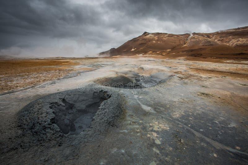Ηφαιστειακό τοπίο, Namafjall Hverir Ισλανδία στοκ φωτογραφία με δικαίωμα ελεύθερης χρήσης