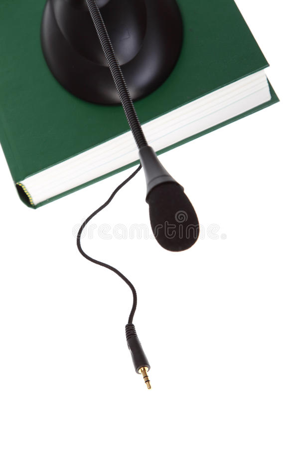 Ηχητικά βιβλία στο λευκό στοκ εικόνα
