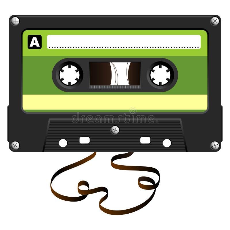 ηχητική χαλασμένη κασέτα τ&alpha απεικόνιση αποθεμάτων