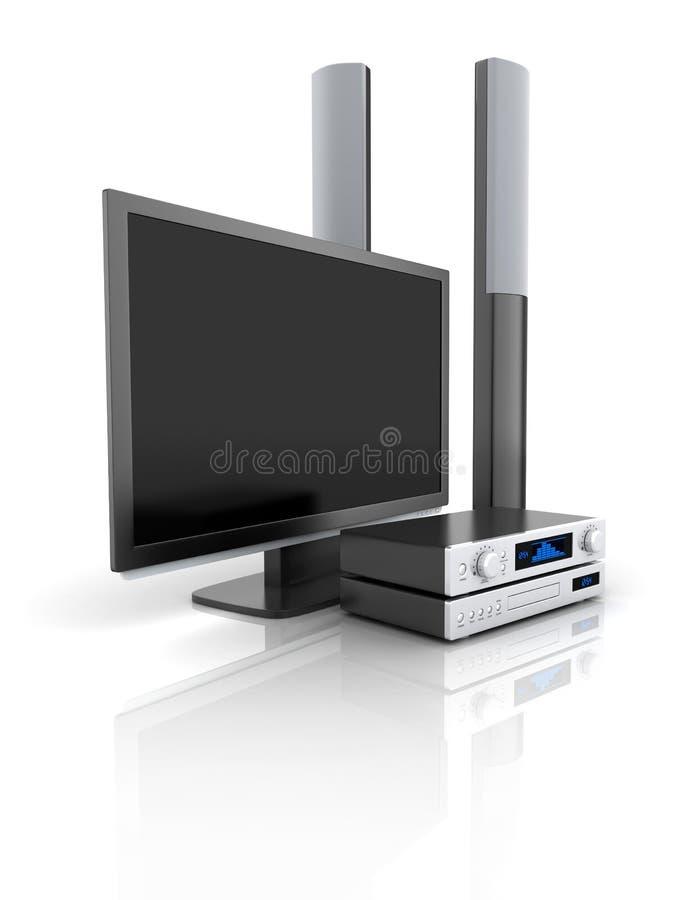 ηχητική TV συστημάτων ελεύθερη απεικόνιση δικαιώματος