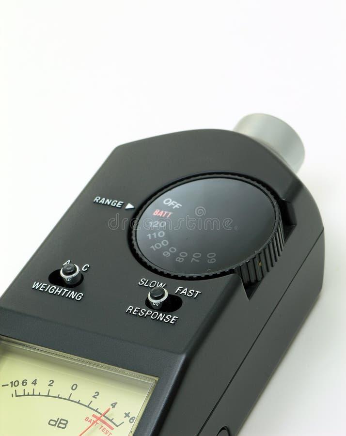 ηχητικός ήχος μετρητών επιπέδων στοκ εικόνες με δικαίωμα ελεύθερης χρήσης
