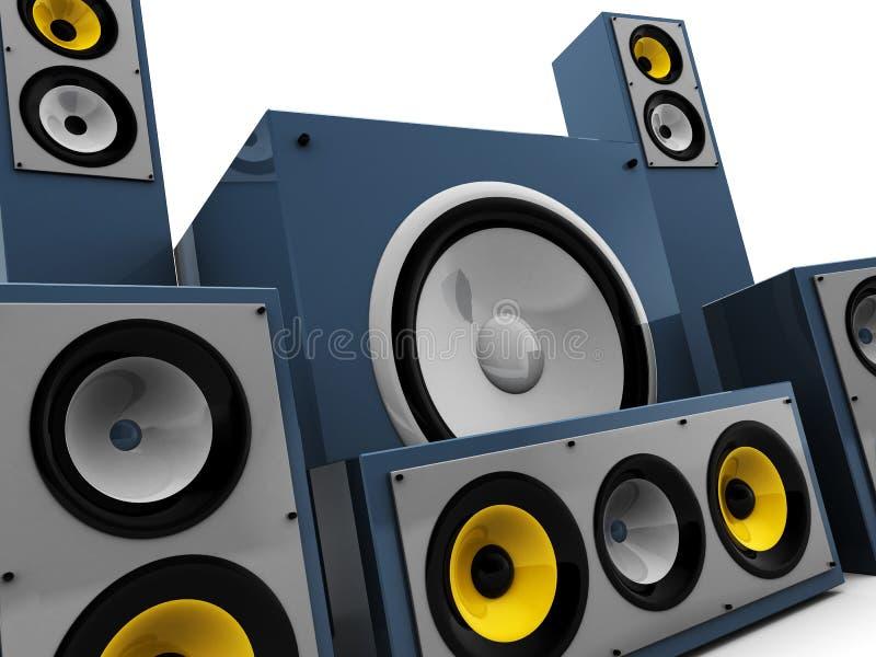 ηχητικό σύστημα κινηματογ&rho ελεύθερη απεικόνιση δικαιώματος