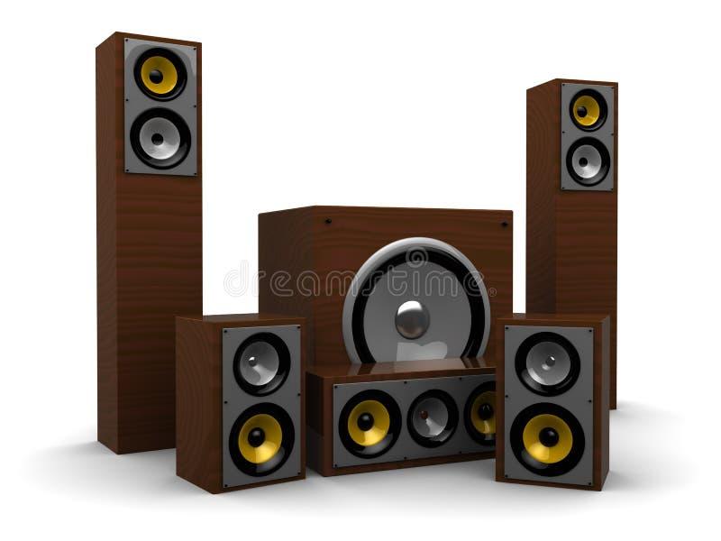 ηχητικό σύστημα διανυσματική απεικόνιση