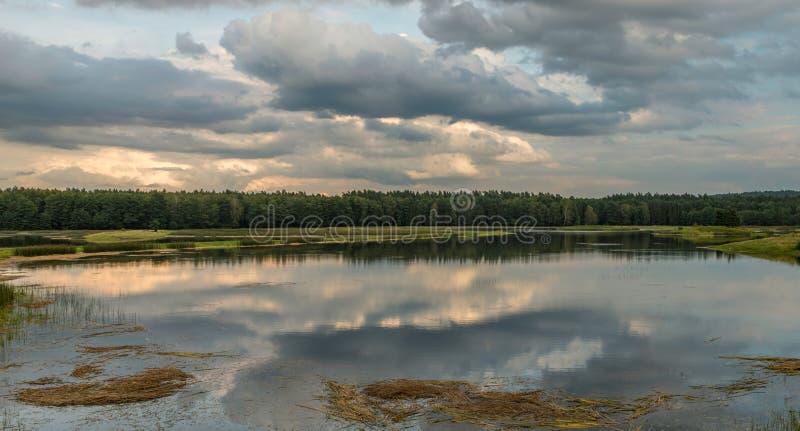 Ηχώ Stawy, εθνικό πάρκο Roztocze, Πολωνία στοκ εικόνες με δικαίωμα ελεύθερης χρήσης