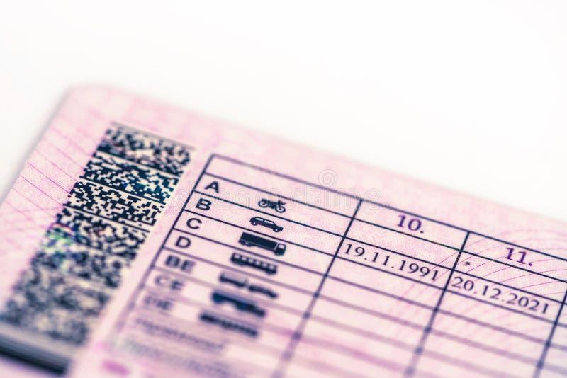 Η άδεια οδήγησης στοκ εικόνες με δικαίωμα ελεύθερης χρήσης