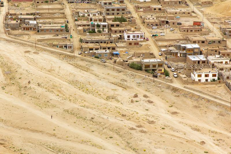 Η άλλη πλευρά της πόλης Leh Ladakh στοκ εικόνες