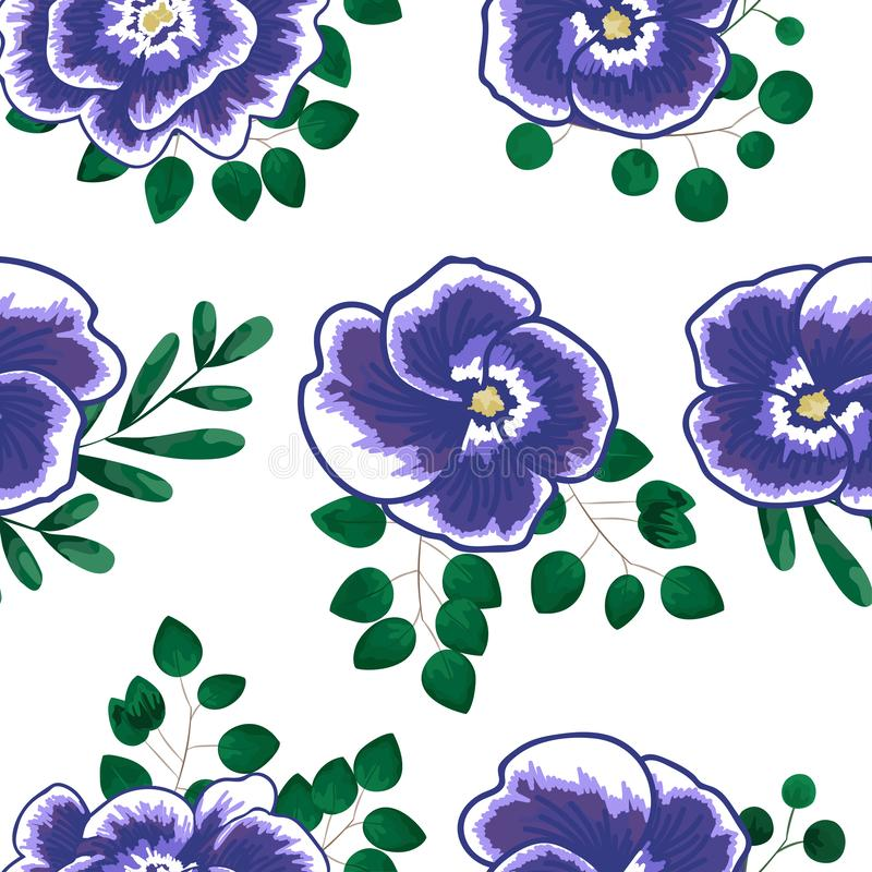 Η άνοιξη ανθίζει την άνευ ραφής floral απεικόνιση σχεδίων σχεδίων μικρή floral και το floral διανυσματικό ύφασμα σχεδίων λουλουδι διανυσματική απεικόνιση
