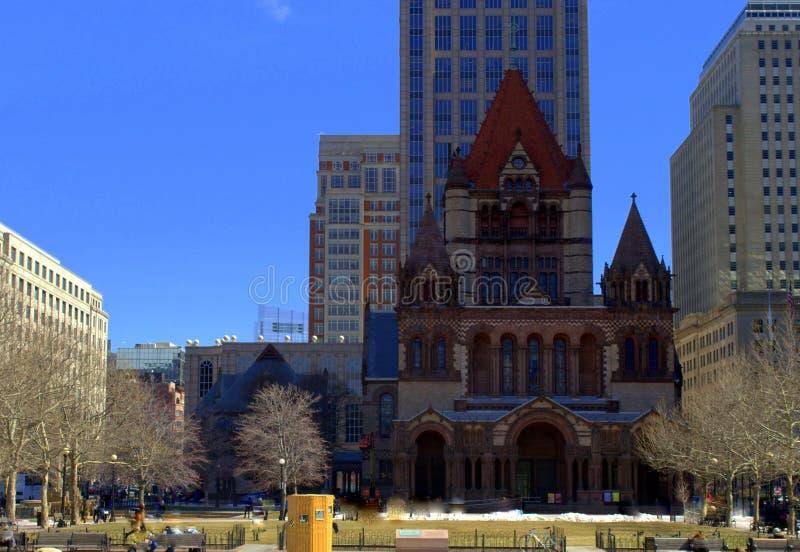 Η άνοιξη αρχίζει στο Copley τετραγωνικό Plaza στη Βοστώνη στοκ εικόνα με δικαίωμα ελεύθερης χρήσης