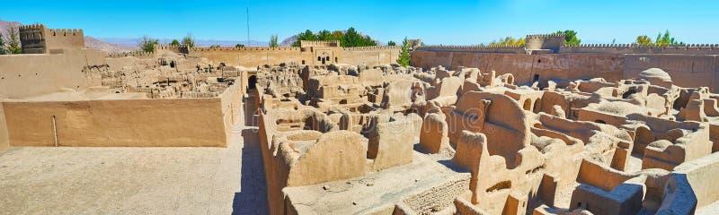 Η άποψη από Rayen Castle, Ιράν στοκ εικόνα