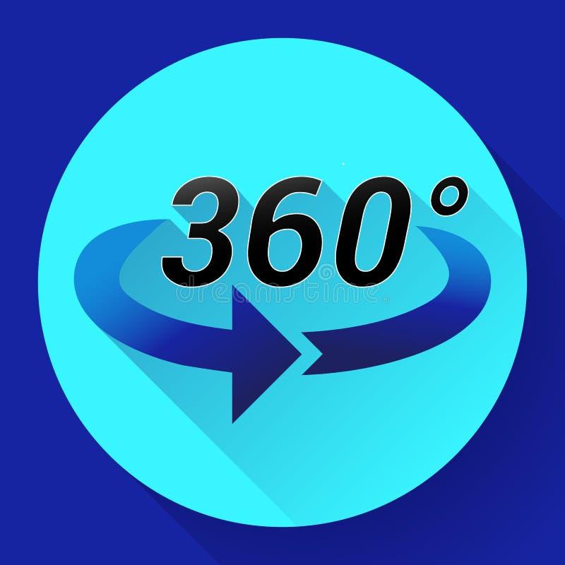 360 η άποψη βαθμού αφορούσε το διανυσματικό εικονίδιο απεικόνιση αποθεμάτων