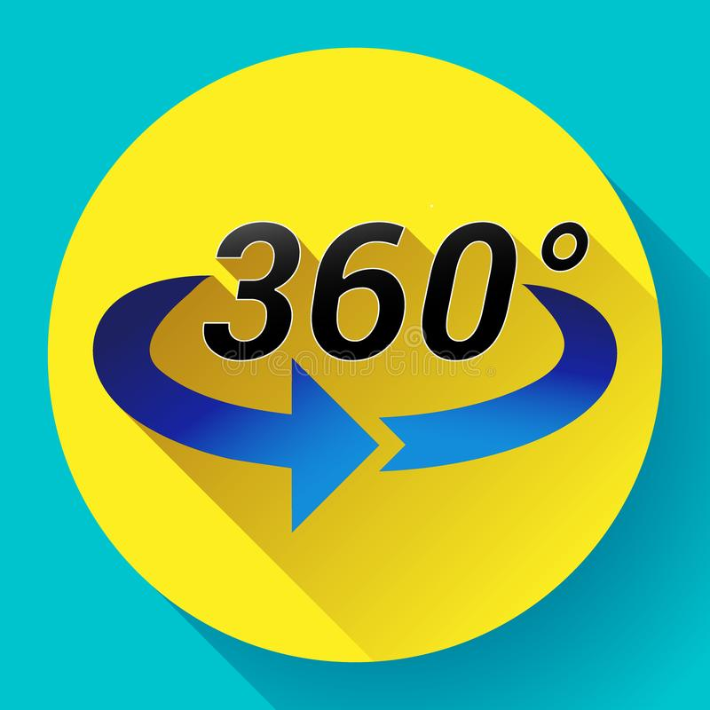360 η άποψη βαθμού αφορούσε το διανυσματικό εικονίδιο ελεύθερη απεικόνιση δικαιώματος