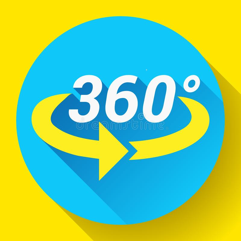 360 η άποψη βαθμού αφορούσε το διανυσματικό εικονίδιο διανυσματική απεικόνιση