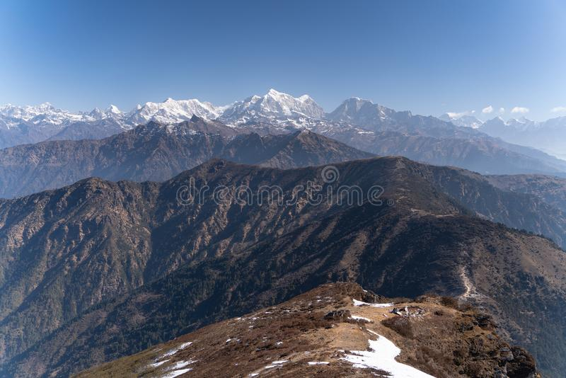 Η άποψη βουνών από την αιχμή Pikey στοκ φωτογραφία με δικαίωμα ελεύθερης χρήσης