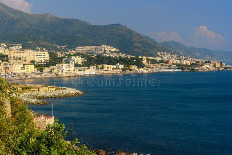 Η άποψη της Γένοβας είναι λιμάνι στην Ιταλία στοκ φωτογραφίες με δικαίωμα ελεύθερης χρήσης