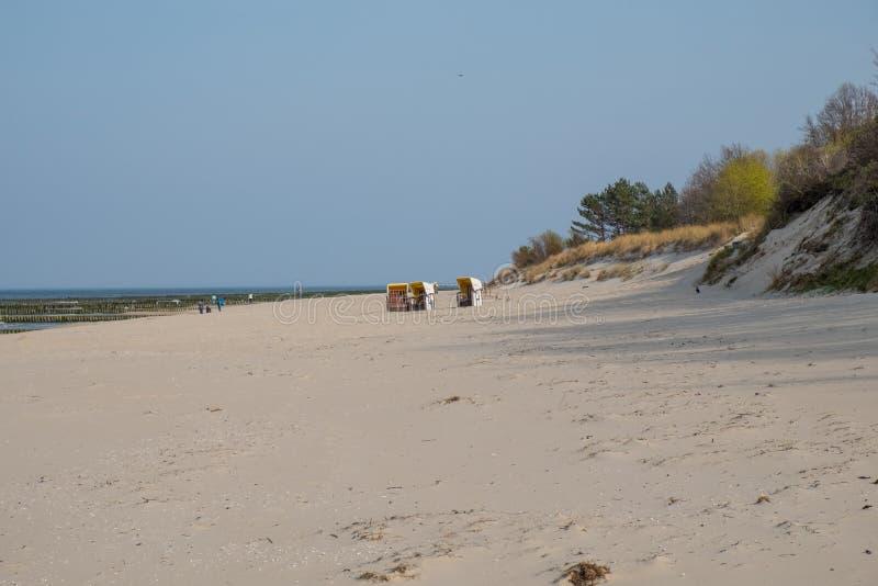 Η άποψη της παραλίας Zempin στοκ εικόνα με δικαίωμα ελεύθερης χρήσης