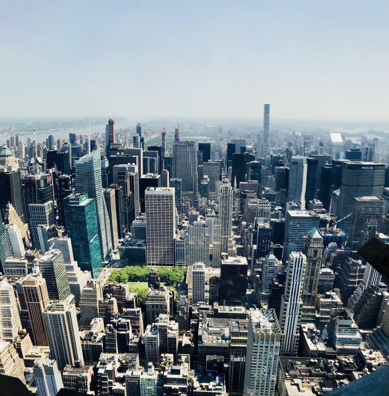 Η άποψη της πόλης της Νέας Υόρκης από το Εmpire State Building στοκ φωτογραφία με δικαίωμα ελεύθερης χρήσης