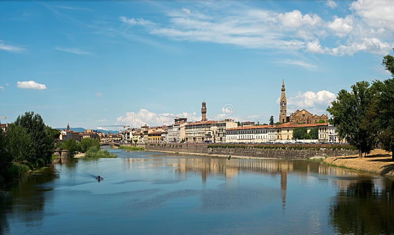 Η άποψη της Φλωρεντίας, Ιταλία στοκ φωτογραφία με δικαίωμα ελεύθερης χρήσης