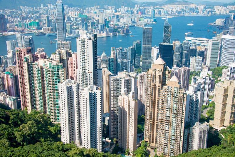 Η άποψη του Χογκ Κογκ κατά τη διάρκεια της ημέρας στοκ φωτογραφίες με δικαίωμα ελεύθερης χρήσης