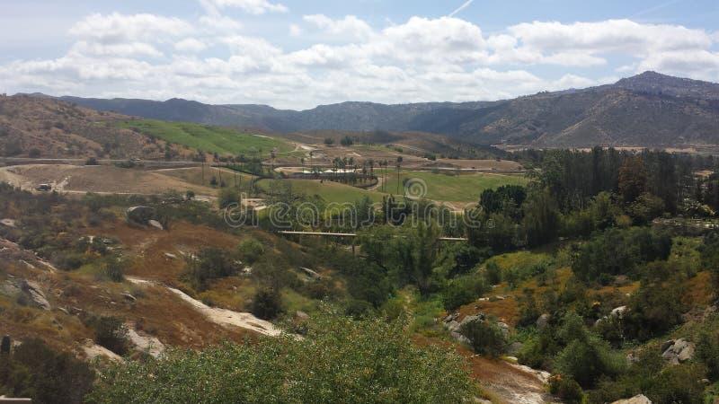 Η άποψη των montains του califorina στοκ εικόνα