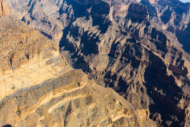 Η άποψη Jebel υποκρίνεται στο Ομάν στοκ εικόνες