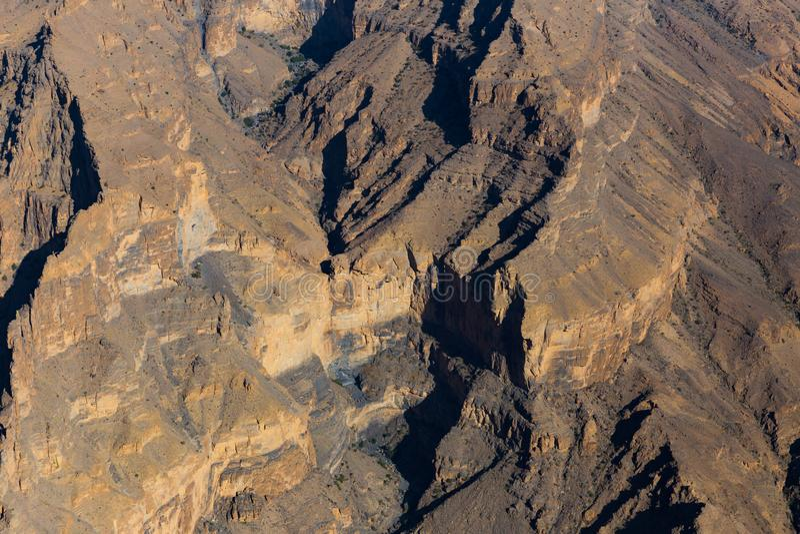 Η άποψη Jebel υποκρίνεται στο Ομάν στοκ εικόνα με δικαίωμα ελεύθερης χρήσης