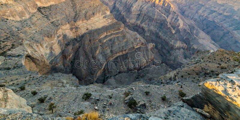 Η άποψη Jebel υποκρίνεται στο Ομάν στοκ φωτογραφίες με δικαίωμα ελεύθερης χρήσης