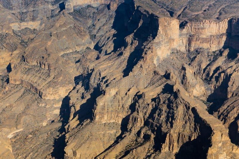 Η άποψη Jebel υποκρίνεται στο Ομάν στοκ εικόνα