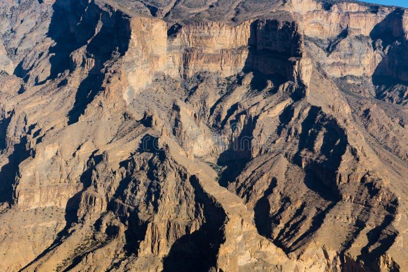 Η άποψη Jebel υποκρίνεται στο Ομάν στοκ φωτογραφία με δικαίωμα ελεύθερης χρήσης