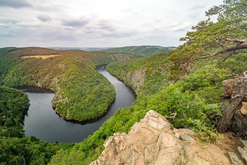 Η άποψη Maj, ποταμός Vltava στοκ εικόνες