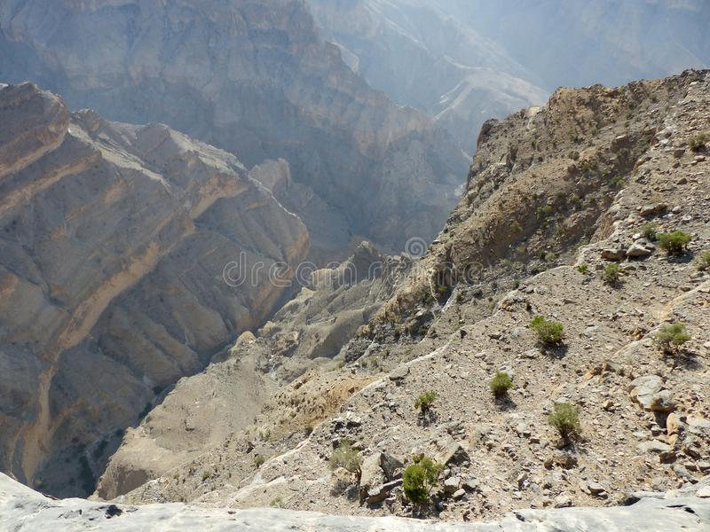 Η άποψη Nakhal Wadi, Jebel υποκρίνεται, Ομάν στοκ φωτογραφίες με δικαίωμα ελεύθερης χρήσης