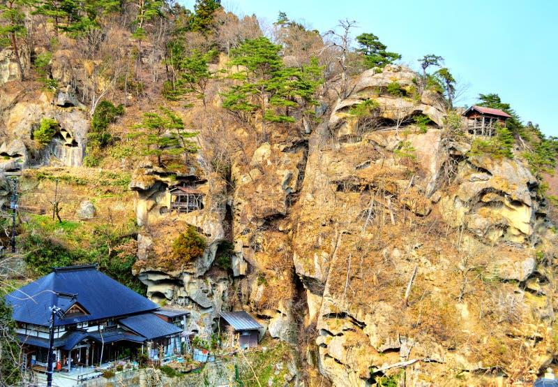 Η λάρνακα ναών Yamadera σύνθετη στοκ εικόνες με δικαίωμα ελεύθερης χρήσης